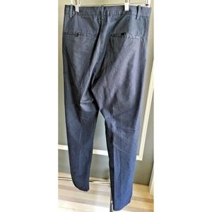 Other - Men Navy Flat front Chino with Slanted pocket